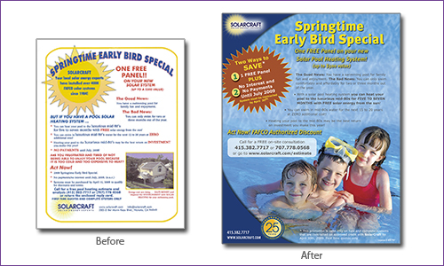 flyer graphic design case study before and after