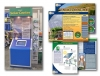 interactive kiosk and marketing flyer graphic design